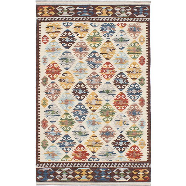 Schaaf Hand-Woven Brown/Blue/Gray Area Rug by World Menagerie