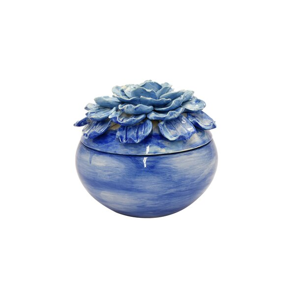Perdomo Flower Ceramic Decorative Box by One Allium Way