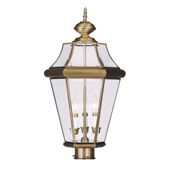 Violetta 3 Light Outdoor Post Head by Darby Home Co