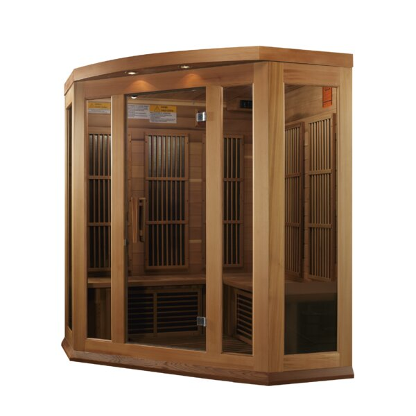 Luxury Series 3 Person FAR Infrared Sauna by Dynam