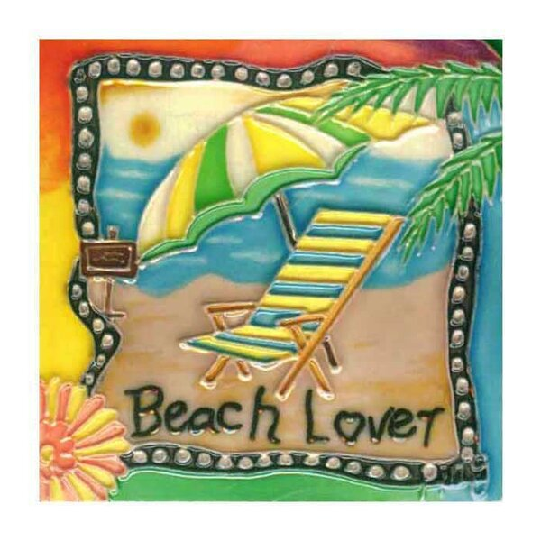 Beach Lover Tile Wall Decor by Continental Art Center