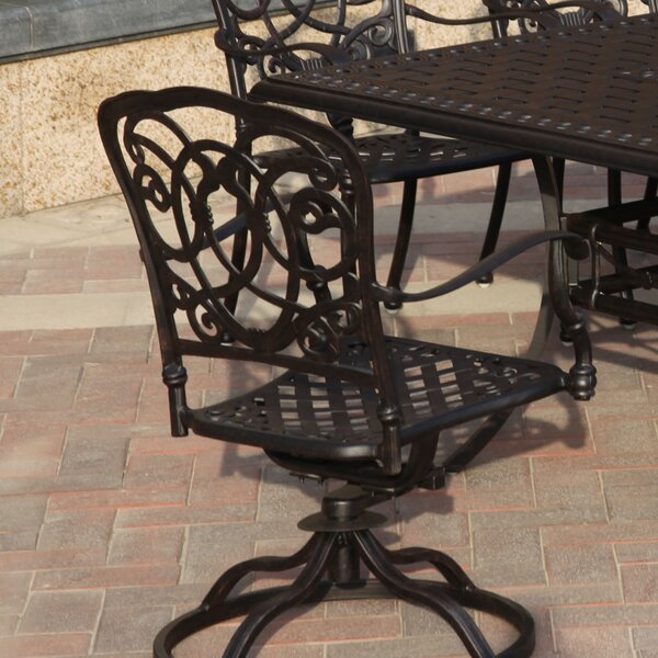 Dolby Swivel Patio Dining Chair by Astoria Grand