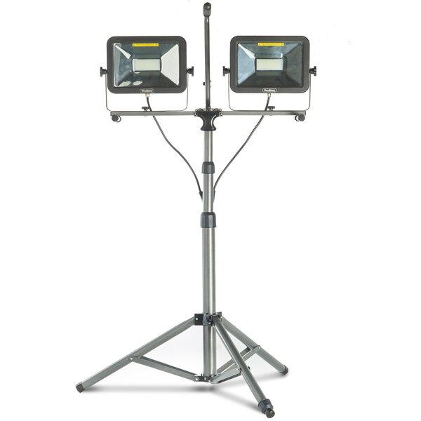 Dual Head 100W LED Work Flood Light by VonHaus