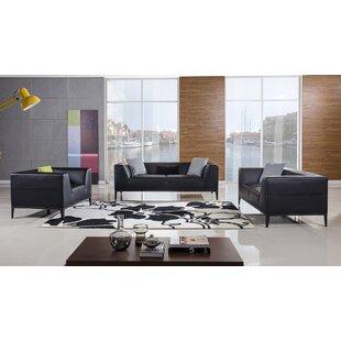 Hogarth 3 Piece Living Room Set by Orren Ellis