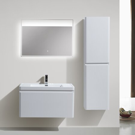 Burchette 35 Wall-Mounted Single Bathroom Vanity Set by Wrought Studio