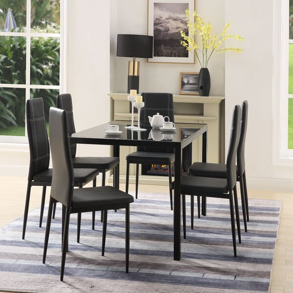 Pagano 7 Piece Dining Set by Orren Ellis