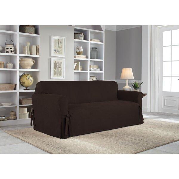 Box Cushion Sofa Slipcover By Serta Great price