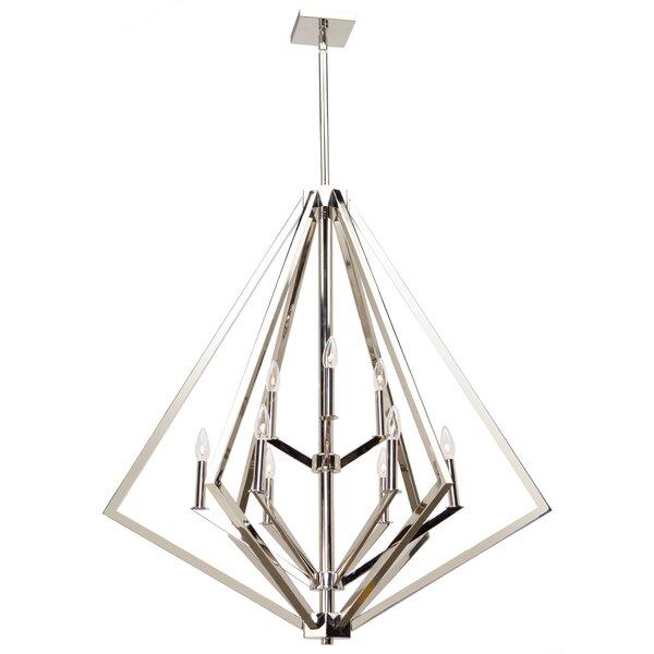 Breezy Point 9-Light Unique / Statement Geometric Chandelier By Artcraft Lighting