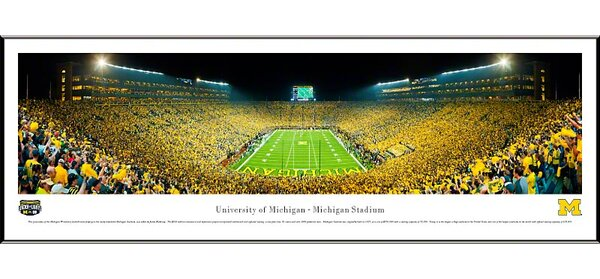 NCAA University of Michigan by James Blakeway Standard Framed Photographic Print by Blakeway Worldwide Panoramas, Inc