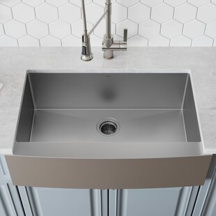 30 L x 21 W Farmhouse Kitchen Sink with Drain Assembly ByKraus