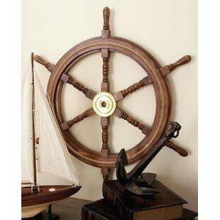 Ships wheel chandelier wayfair ship wheel wall decor aloadofball Choice Image