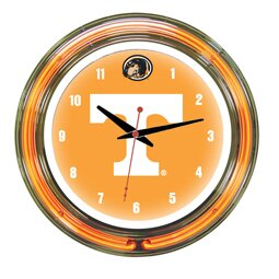 NCAA 14 Team Neon Wall Clock by Wave 7
