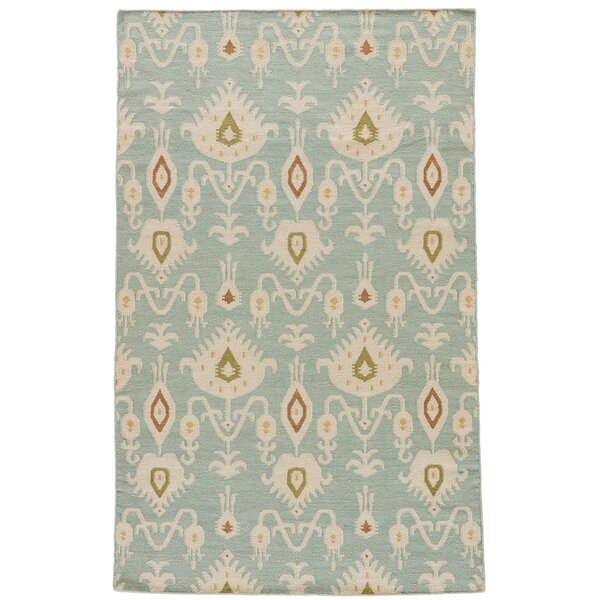 One-of-a-Kind Aiden Hand-Woven Wool Bungalow Blue/Ivory Area Rug by Brayden Studio