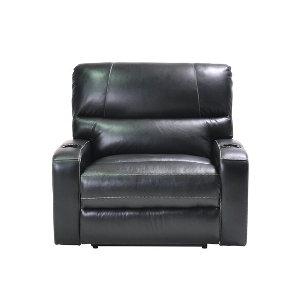 Filip Oversized Leather Power Recliner by Red Barrel Studio