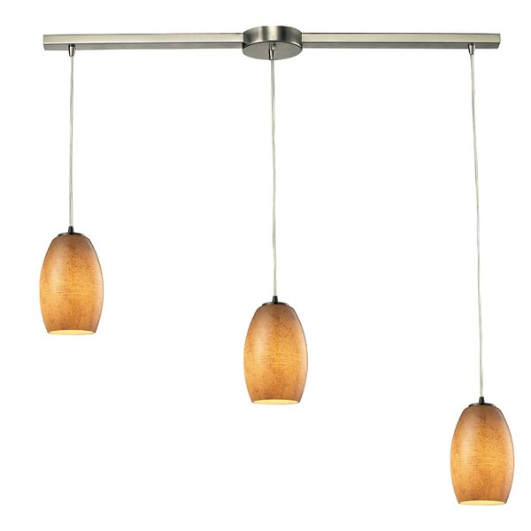 Hertford 3-Light Cluster Pendant by Bay Isle Home