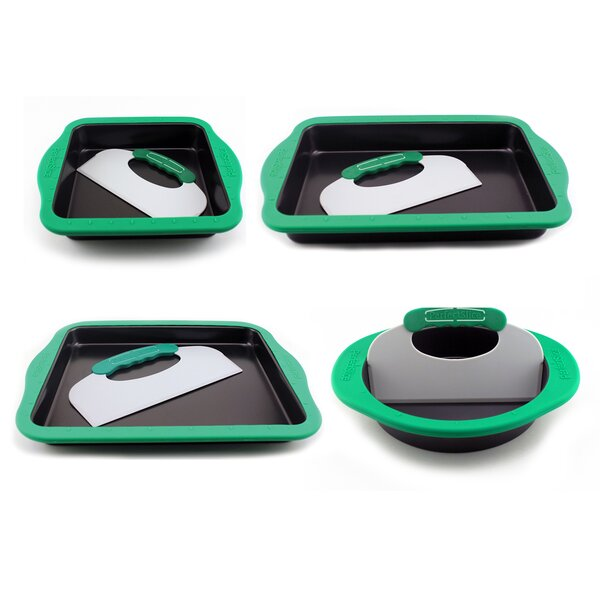 Perfect Slice 8 Piece Non-Stick Silicone Cake Pans