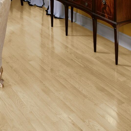 Fulton 3-1/4 Solid White Oak Hardwood Flooring in Winter White by Bruce Flooring