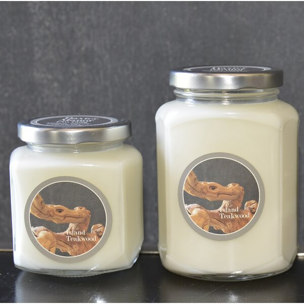 Artisan Island Teakwood Jar Candle by Baxter Manor