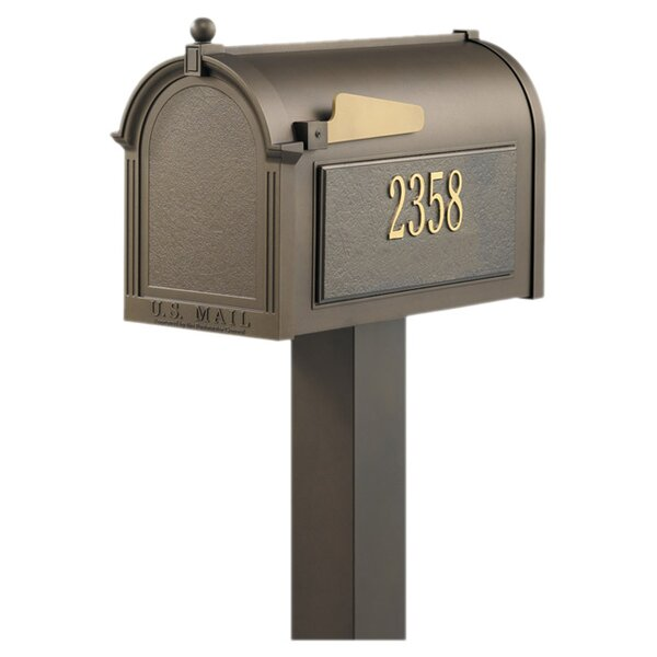 9.5 in x 55 in Personalized Weston Mailbox by Whitehall Products