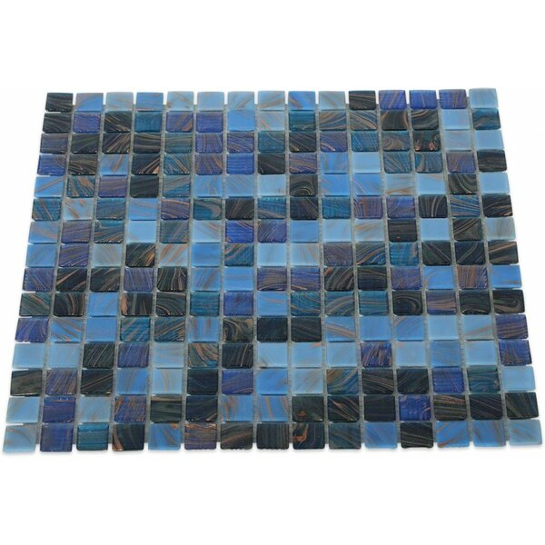 0.75 x 0.75 Glass Mosaic Tile in Lake Blue by Splashback Tile