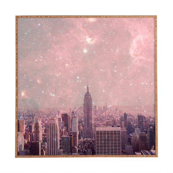 Stardust Covering New York Framed Photographic Print by East Urban Home