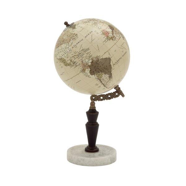 Wood Metal Marble Globe by Cole & Grey