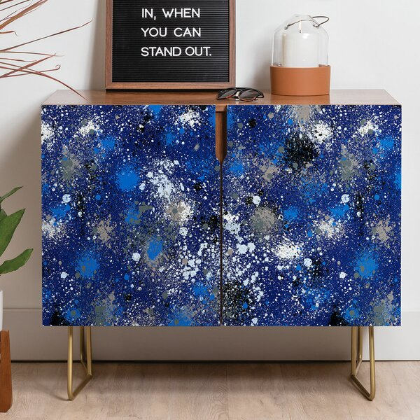 Ninola Ink Splatter Sideboard Credenza by East Urban Home East Urban Home
