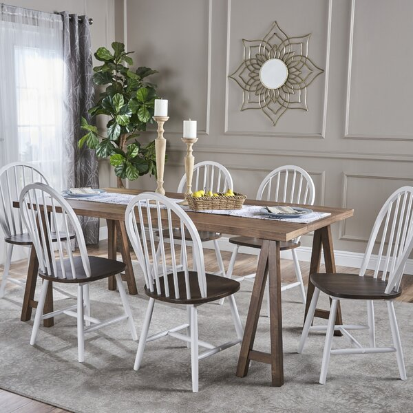 Pilla Cottage Faux Wood 7 Piece Dining Set by Gracie Oaks