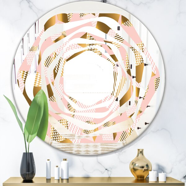 Whirl Cubes II Glam Frameless Wall Mirror