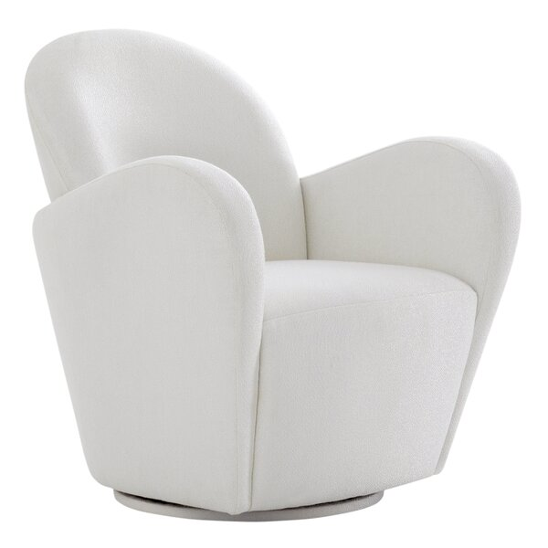 Elena Swivel 21.6-inch Armchair by Pasargad Pasargad