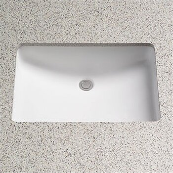 Augusta Decorative Ceramic Rectangular Undermount Bathroom Sink with Overflow by Toto
