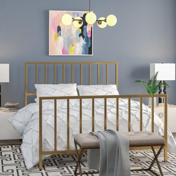 Ackles Slat Metal Queen Panel Bed by Willa Arlo In