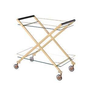 Bertram Modern Metal Bar Cart by Everly Quinn