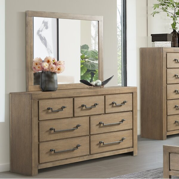 Schwab 7 Drawer Dresser with Mirror by Gracie Oaks