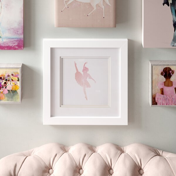 Ballerina Silhouette Framed Print by Birch Lane Kids™