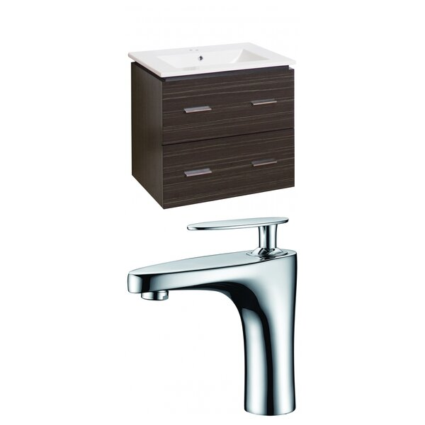 Kyra 24 Single Bathroom Vanity Set with 2 Drawers by Orren Ellis