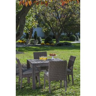 Nishant 5 Piece Dining Set with Cushion By Gracie Oaks