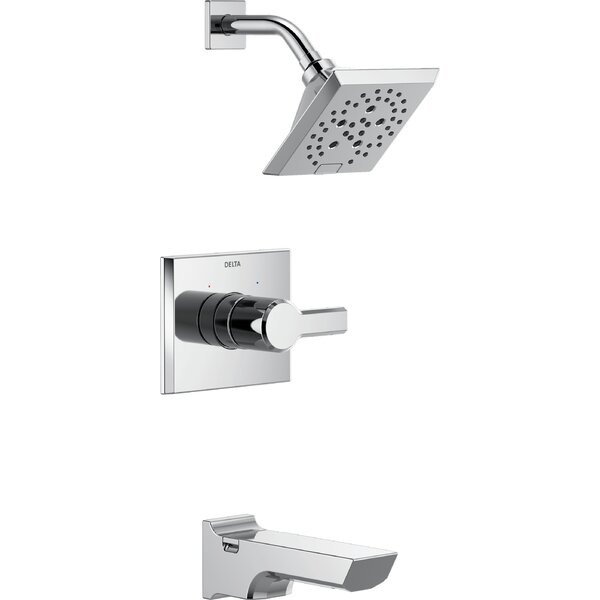 Pivotal 14 Series Tub and Shower Faucet Trim with Lever Handles and H2okinetic Technology by Delta