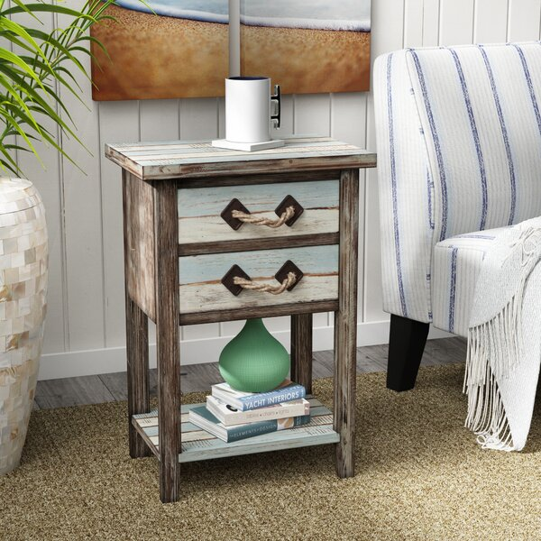 Norcroft End Table With Storage By Beachcrest Home