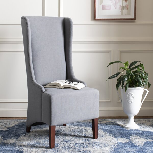 Bacall Upholstered Side Chair in Arctic Grey by Willa Arlo Interiors Willa Arlo Interiors