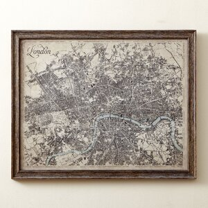 Sepia London Map Framed Print by Birch Lane™