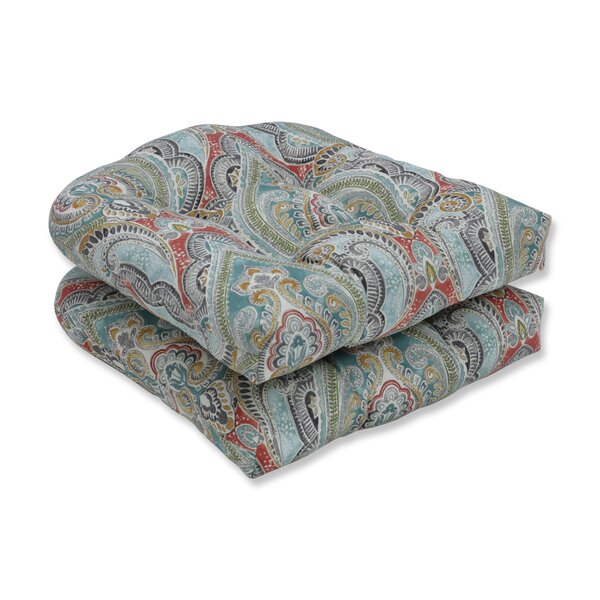 Pretty Witty Reef Indoor/Outdoor Rocking Chair Cushion (Set of 2) by Astoria Grand