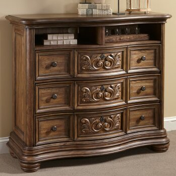 Alderwood 3 Drawer Media Chest by Fleur De Lis Living