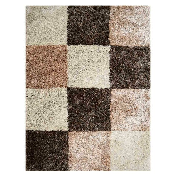 Housel Hand-Tufted Brown Area Rug by Ebern Designs