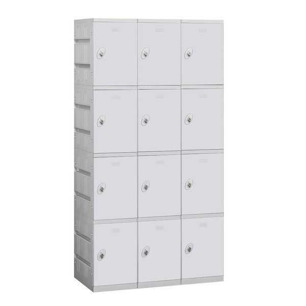 4 Tier 3 Wide Employee Locker By Salsbury Industries.