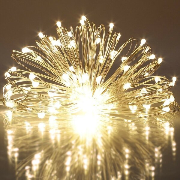 Battery 100 LED String Lights by The Holiday Aisle
