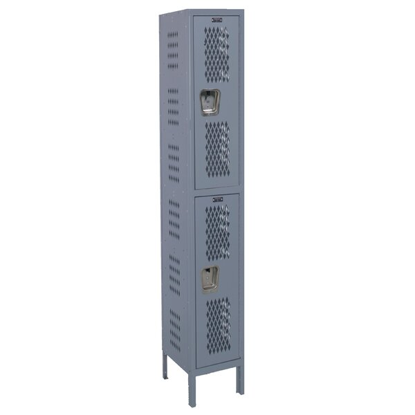Heavy Duty 2 Tier 1 Wide School Locker by Hallowell