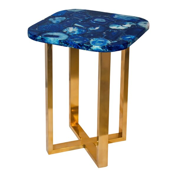 Erica Agate End Table By Everly Quinn