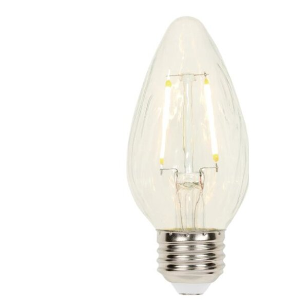 3W E26 Dimmable LED Edison Candle Light Bulb (Set of 4) by Westinghouse Lighting
