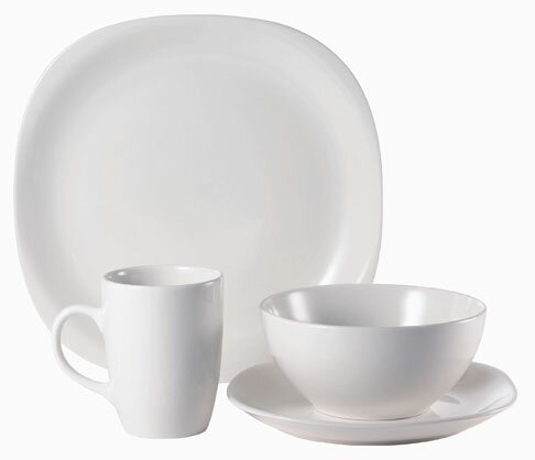 Quadro 16 Piece Dinnerware Set, Service for 4 by Thomson Pottery